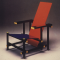 Red and Blue Chair, Rietveld